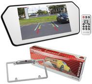 "Rockville R7CB 7"" Rearview Car Mirror w/ 7"" Monitor+Bluetooth/USB/SD+Camera"