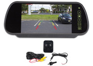"""Rockville Flush Angle Mount Backup Camera+Rearview Car Mirror With 7"""" Monitor"""