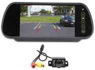 """New Rockville Easy Mount Night Vision Camera+Car Rearview Mirror With 7"""" Monitor"""