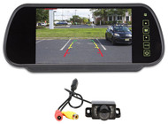"""Rockville Butterfly Mount Backup Night Vision Camera+Car Mirror With 7"""" Monitor"""
