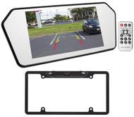 "Jeep Wrangler 7"" Glass Rearview Mirror Monitor w/ Bluetooth/USB/SD+Backup Camera"