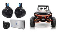 "(2) Rockville 8"" Tower Speakers+2-Ch. Amp+Bluetooth Contoller For RZR/ATV/UTV"