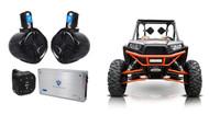 "(2) Rockville 6.5"" Tower Speakers+2-Ch. Amp+Bluetooth Contoller For RZR/ATV/UTV"