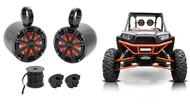 "Pair Kicker 8"" Rollbar Rollcage Speakers For Polaris/JEEP/ATV/UTV/RZR/CART"