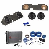 Dual 10 Sub Box+Subs+Amp+Wire Kit For 2002-15 Dodge Ram Quad Cab 1500/2500/3500