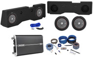 "2014-Up GMC/Chevy Sierra/Silverado Crew Sub Box+2) Kicker 12"" Subwoofers+Amp+Kit"