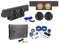 "2004-2006 GMC/Chevy Crew Cab Dual 10"" Rockford Fosgate Subwoofers+Amp+Box+Wires"