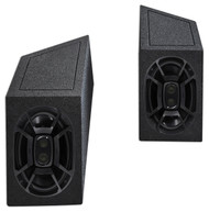 "1987-1995 Jeep Wrangler YJ 6x9"" Polk Audio Speakers+Custom Wheel Well Enclosures"