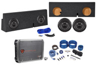 "2005-16 Toyota Tacoma Double Cab Dual 12"" Rockford Fosgate Subwoofers+Amp+Wires"