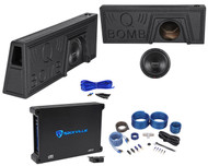 "2009-2016 Ford F150 Super Crew 10"" Rockford Fosgate Subwoofer+Amp+Sub Box+Wires"
