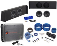 "2009-Up Ford F-150 Super Crew Subwoofer Box+(2) Rockford Fosgate 10"" Subs+Amp"