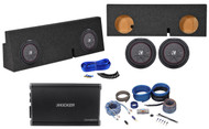 "10"" Kicker Subwoofers+Mono Amplifier+Sub Box For 05-16 Toyota Tacoma Double Cab"