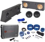 "07-13 GMC/Chevy Sierra/Silverado Crew+Sub Box+(2) Rockford Fosgate 10"" Subs+Amp"
