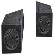 "87-95 Jeep Wrangler YJ 6x9"" Rockville Speakers+Enclosures For Wheel Well Ledges"