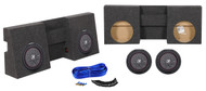 "Dual 10"" Kicker Subwoofers+Sub Box Enclosure For 05-15 Toyota Tacoma Regular Cab"