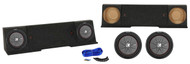 "Dual 12"" Kicker Subwoofers+Sub Box Enclosure For 88-98 GMC Chevrolet Chevy Xcab"