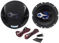 "Pair Rockville RV6.3 6.5"" 3-Way Car Speakers 560 Watts/140 Watts RMS CEA Rated"