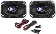 """Pair Rockville RV46.2 4x6"""" 2-Way Car Speakers 280 Watts/70 Watts RMS CEA Rated"""
