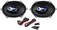 """Pair Rockville RV57.3 5x7"""" 3-Way Car Speakers 600 Watts/150 Watts RMS CEA Rated"""