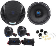 "Rockville RV65.2K 6.5"" Component Kit Car Speakers 640 Watts/160 Watts RMS CEA"