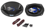 """Pair Rockville RV69.3 6x9"""" 3-Way Car Speakers 800 Watts/200 Watts RMS CEA Rated"""