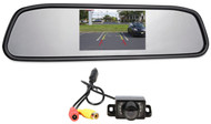 """New Rockville Easy Mount Night Vision Camera+Car Rearview Mirror w/ 4.3"""" Monitor"""