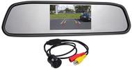 "Rockville Flush Mount Universal Backup Camera+Car Rearview Mirror w/4.3"" Monitor"
