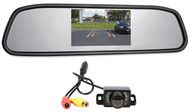 "Rockville Butterfly Mount Backup Night Vision Camera+Car Mirror w/ 4.3"" Monitor"