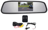 """Rockville Flush Angle Mount Backup Camera+Rearview Car Mirror With 4.3"""" Monitor"""