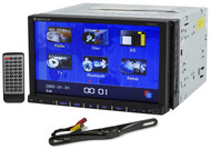 """New Rockville RVD7.0 7"""" Car DVD/USB/Bluetooth/iPhone Player+License Plate Camera"""