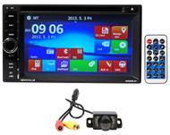 "Rockville RVDG6.2 6.2"" double Din Car Navigation/DVD/USB/Bluetooth Player+Camera"