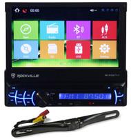 "Rockville RVDG7M 7"" Navigation DVD Player iPhone, Bluetooth+License Plate Camera"