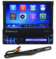 """Rockville RVD7M 7"""" Car Stereo DVD Receiver Bluetooth iPhone+License Plate Camera"""