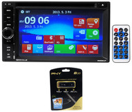 "Rockville RVDG6.2 6.2"" Double Din Car Navigation/DVD/Bluetooth Player+USB Drive"