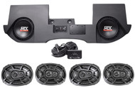"2013-16 Dodge Ram Quad/Crew Cab Powered Dual 10"" MTX Subs+Box+4) Kicker Speakers"
