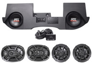 "02-13 Dodge Ram Quad/Crew Cab Active 10"" MTX Subs+Box+Front+Rear Kicker Speakers"