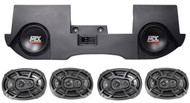 "Dual 10"" MTX Subwoofers+Box+4) Kicker Speakers For 02-16 Dodge Ram Quad/Crew Cab"