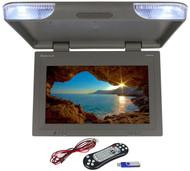 "Rockville RVM22FD-GR 22"" TFT Grey Flip Down Car Monitor w/ USB/SD/Video Games"