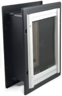 PetSafe Wall Dual Entry Aluminium Telescoping Pet Door for Dogs- Large Med Small (Wall Dual Entry)