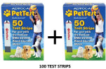 Advocate PetTest Test Strips PT-105 - BMB-BA002P - 100 CT -  Calibrated for Pets Only