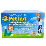 Advocate PetTest 100 Count 21G Safety Lancets (PT-120)  Calibrated for Pets Only