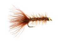 Mini Wooly Bugger - Bead Brown Crystal