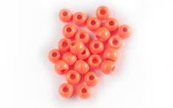 Brass Bead- Hot Orange