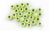 Brass Bead- Hot Chartreuse