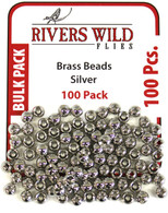100 Pack- Silver Brass