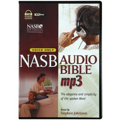 Front view - NASB Audio Bible for MP3 & Android New American Standard voice only