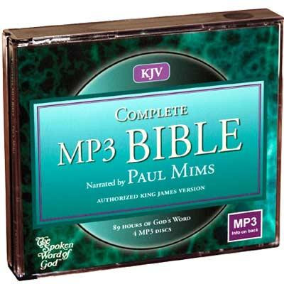 Front view - King James Audio Bible download Narrated by Paul Mims