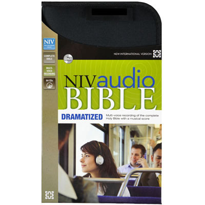 Front view - NIV Audio Bible on CD, Dramatized version, Audio Bible NIV on 64 CDs