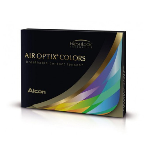 Air Optix Colors contact lenses allows you to change the colour of your eyes as well as protect them. They are designed to enhance dark or light eyes, with a natural effect and are available in prescription and non-prescription.  Unlike other coloured contact lenses which have colour printed on the lens surface, the colour in Air Optix Colors contact lenses is inside the lens material meaning that the only thing touching your eye is the smooth surface of the Air Optix lens giving you beautiful, comfortable lens wear.