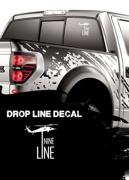 Vinyl Decal - Drop Line (White)